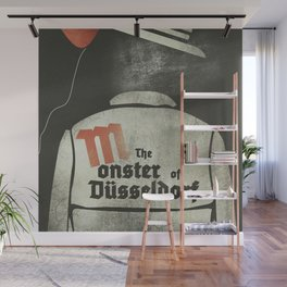 Fritz Lang, M The monster of Düsseldorf, Peter Lorre, minimalist movie, thriller, German film Wall Mural