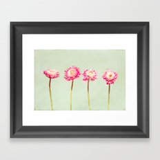 Flowers Two by Two Framed Art Print