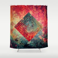 square Shower Curtains featuring Random Square by Esco
