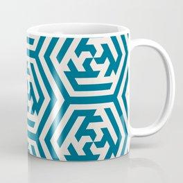 Moroccan Teal Ornate Geometric Pattern Coffee Mug