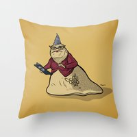 monsters inc Throw Pillows featuring Monsters, Inc. | Roz by Brave Tiger Designs
