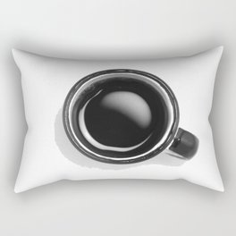 Cup of Coffee (Black and White) Rectangular Pillow