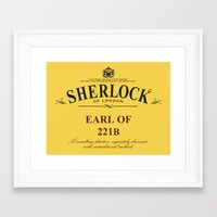 221b Framed Art Prints featuring Earl of 221B by Barn Bocock