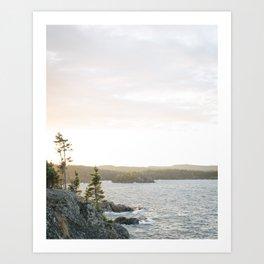 Pukaskwa National Park - Ontario, Canada   lake superior - landscape - photography - sunrise - trees Art Print