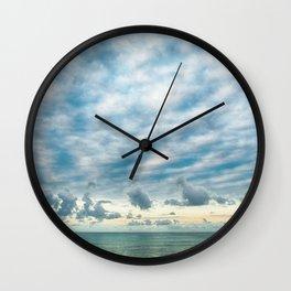 Sea and Cloud Wall Clock