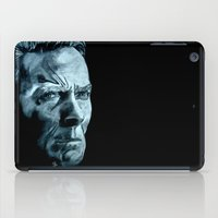 clint barton iPad Cases featuring Clint Eastwood by artbyolev
