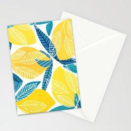 Lemon Tree / Abstract Fruit Art Stationery Cards