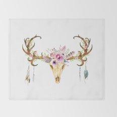 Deer Skull Throw Blanket