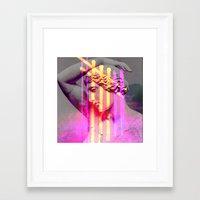 goddess Framed Art Prints featuring Goddess by Iris & Ino