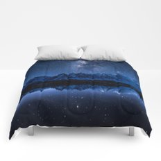 Night mountains Comforters
