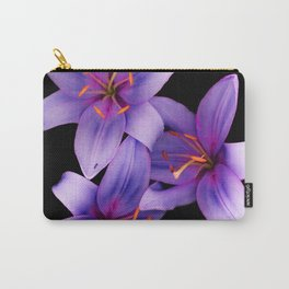 Beautiful Blue Ant Lilies, Flowers Scanography Carry-All Pouch