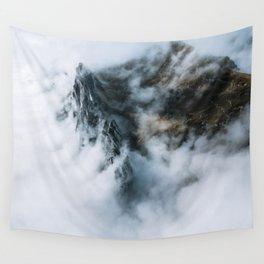 Moody Switzerland Mountain Peaks - Landscape Photography Wall Tapestry