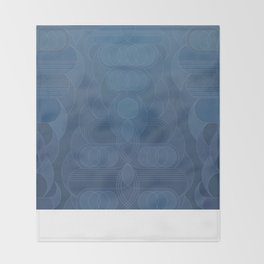 Round and About Blue Gray Throw Blanket