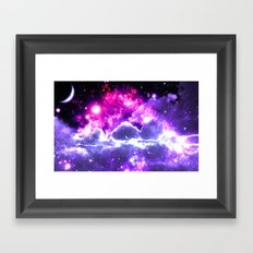 Galaxy Clouds Fuchsia Pink Purple Framed Art Print