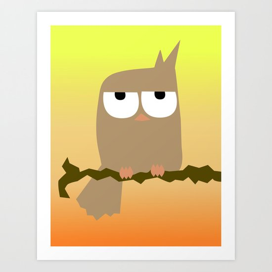 owl on a tree Art Print