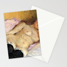 The Artist's Wife Natalia Nordman Sleeping - Ilya Yefimovich Repin Stationery Cards