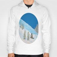 snowboarding Hoodies featuring Snowboarding by N_T_STEELART