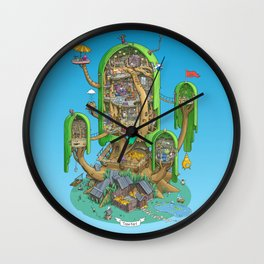 Home on a Tree Wall Clock