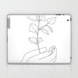 Minimal Hand Holding the Branch II Laptop & iPad Skin
