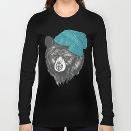 bear in blue Long Sleeve T-shirt