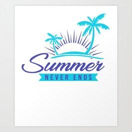 Summer Never Ends bp Art Print
