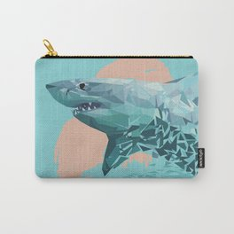 Shark Low Poly Art Print Carry-All Pouch