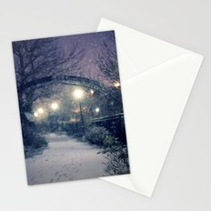 Winter Garden in the Snow Stationery Cards