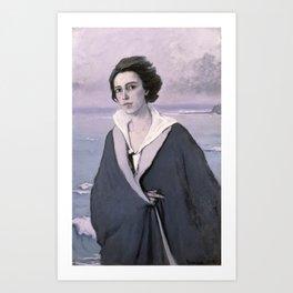 At The Seaside, Self-portrait by Romaine Brooks Art Print