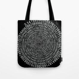 Pi - black Tote Bag