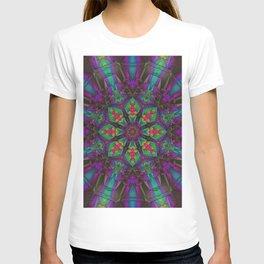 Psychedelic Mandala - Fractal Flower - Manafold Art T-shirt