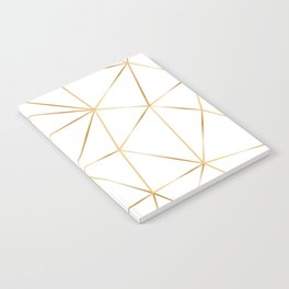 gold polygon on white Notebook