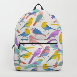 Dazzling Colored Bird Pattern Backpack
