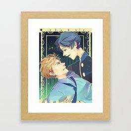 gekkan shoujo nozaki kun - kashima and hori-senpai Framed Art Print