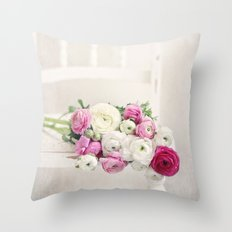 Playful Petals Throw Pillow