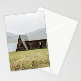 House in front of the lake Stationery Cards