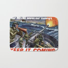 Your Metal Saves Our Convoys Bath Mat