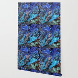 Malachite Mineral Stone rustic decor Wallpaper