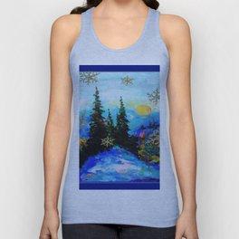 Blue Snowy Mountain Scenic Landscape Unisex Tank Top