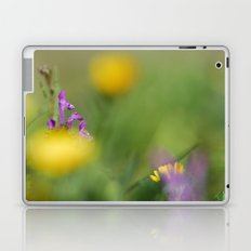 Purple, yellow and green bokeh Laptop & iPad Skin
