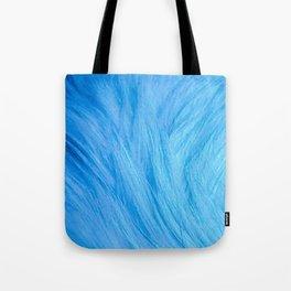 Cool Blue Fur Tote Bag