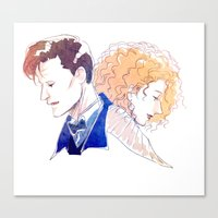 river song Canvas Prints featuring Professor River Song by oKaShira2