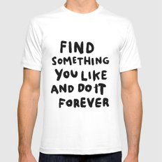 Find Something you like White MEDIUM Mens Fitted Tee