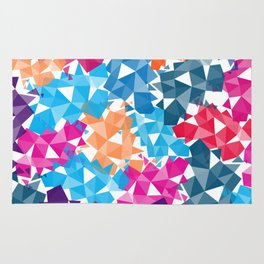 Colorful geometric Shapes Rug