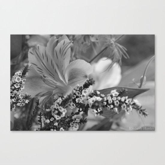 Freesia 2 B&W Canvas Print