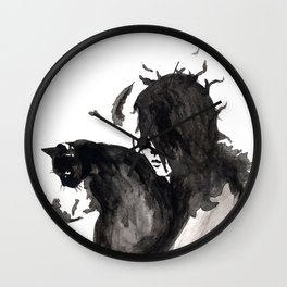 Black Cat Pixel Wall Clock