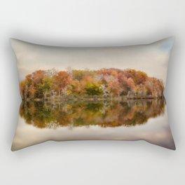 Autumn At Lake LaJoie 4 Rectangular Pillow