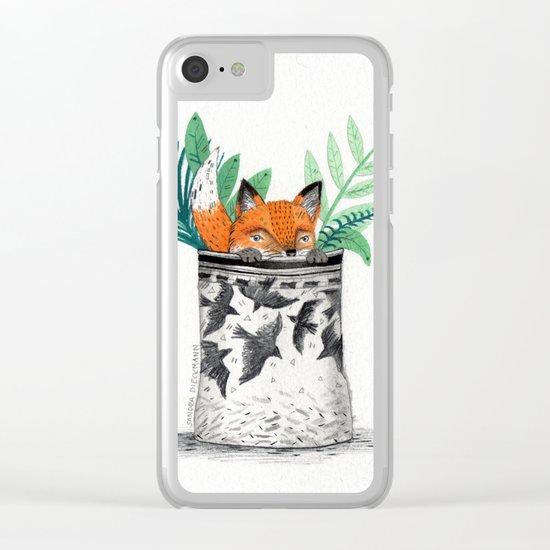 Fox Pot Clear iPhone Case