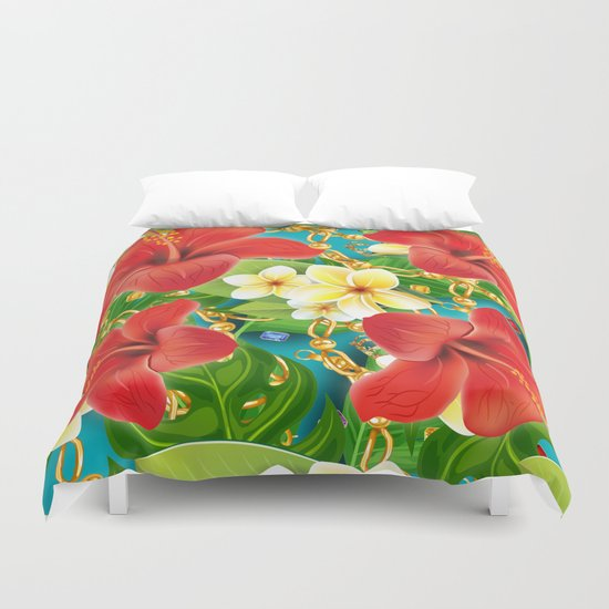 tropical color party  Duvet Cover