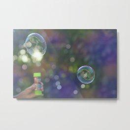 Soap bubbles Metal Print