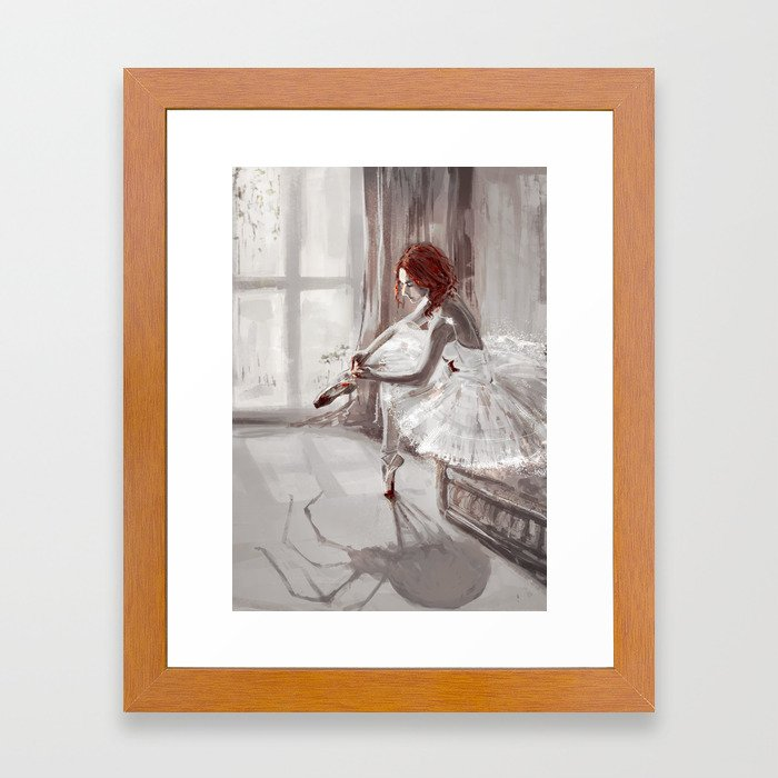 Ballerina Framed Art Print by monikax | Society6